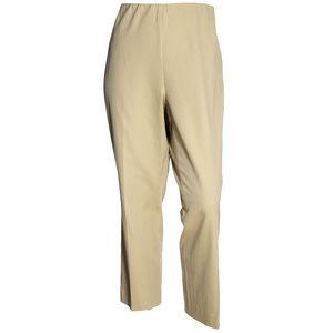 3x Beige Pull-On Straight Leg Pants NEW w/ Tags